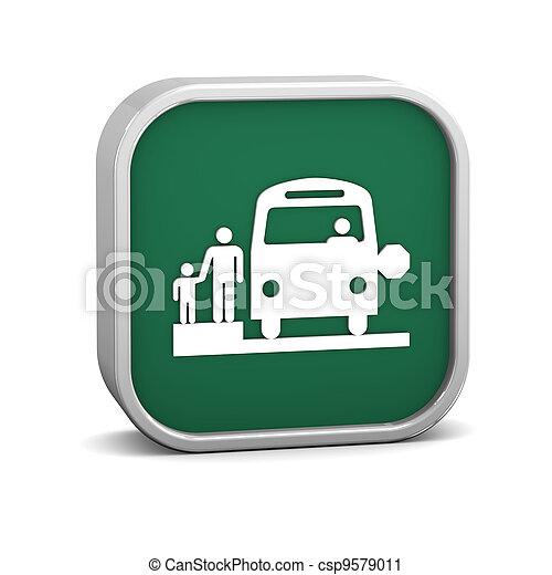 School Bus Stop sign - csp9579011