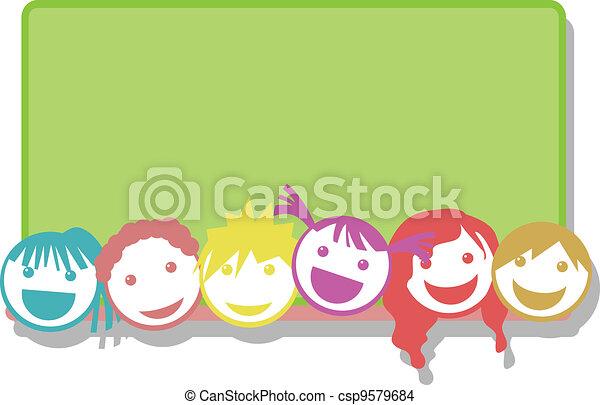 children face background - csp9579684