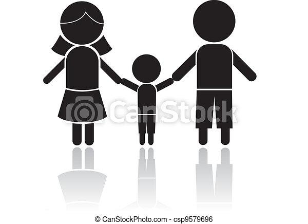family stick figure - csp9579696