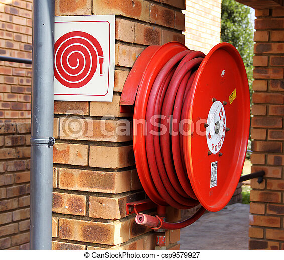 Fire Hydrant with Hose  - csp9579927