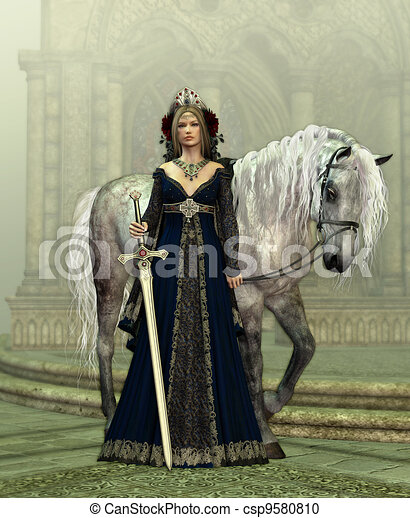 Lady of the Castle - csp9580810