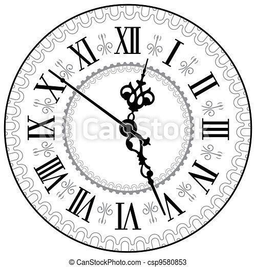 Antique Clock 9580853