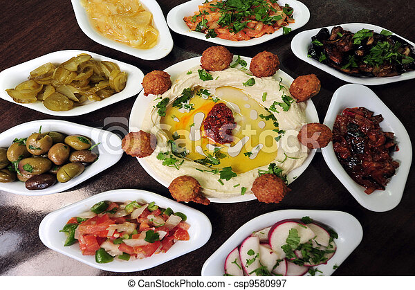 Food and Cuisine - Hummus - csp9580997