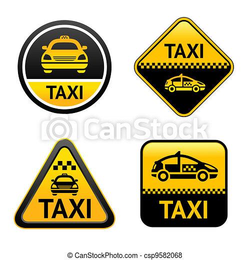 Taxi cab set buttons - csp9582068