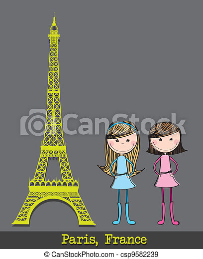 eiffel tower - csp9582239