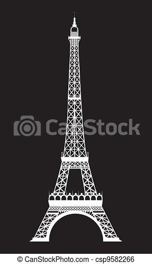eiffel tower - csp9582266