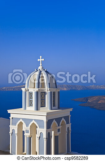 Santorini church - Greece - csp9582289