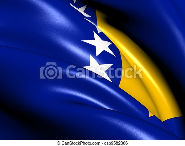 Flag of Bosnia and Herzegovina - csp9582306