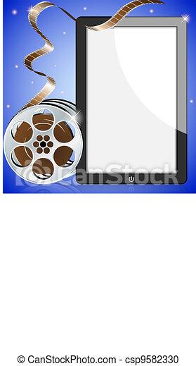 cinema clapper - csp9582330