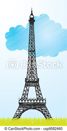 eiffel tower - csp9582460