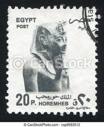 Bust of Pharaoh Horemheb - csp9583512