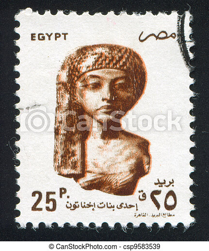 Bust of princess - csp9583539