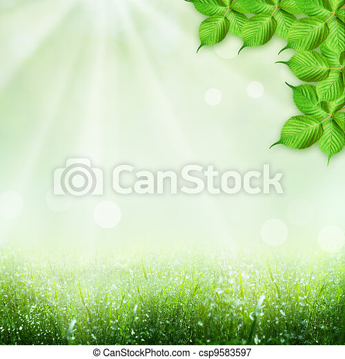 Abstract spring and summer backgrounds - csp9583597