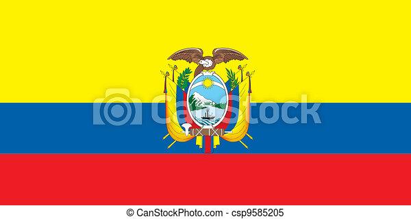 Ecuador Vector Flag Ecuador Flag Csp9585205