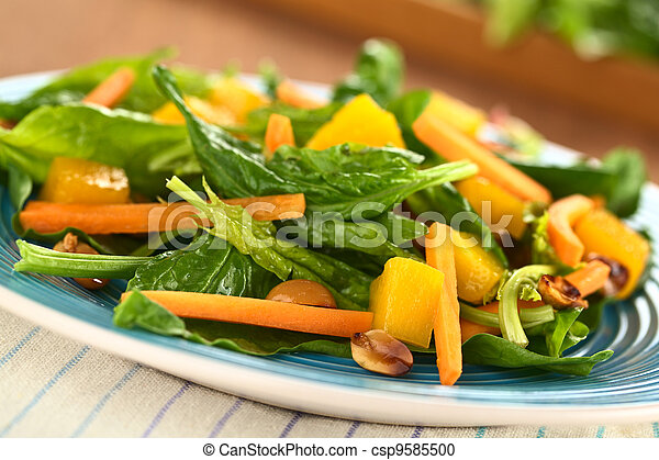 Spinach, Mango and Carrot Salad - csp9585500