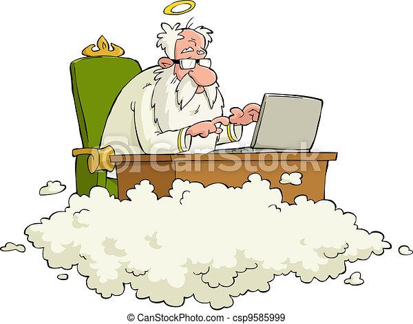 Cartoon God - csp9585999