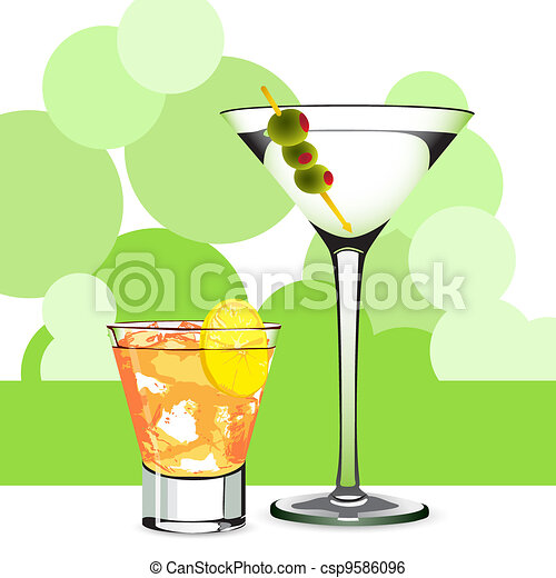 Martini and cocktail - csp9586096