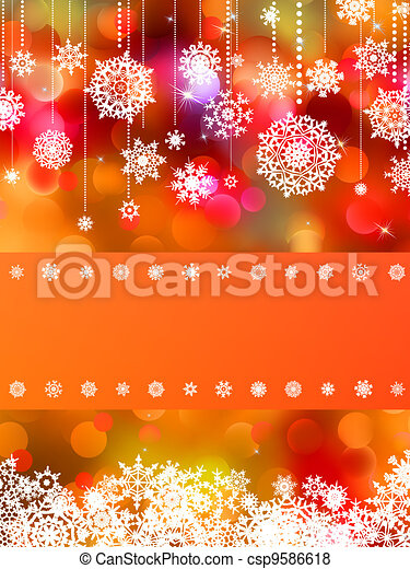 ?hristmas card with Colorful bokeh. EPS 8 - csp9586618