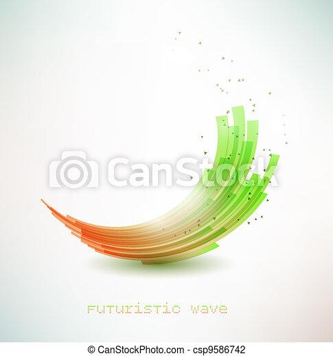 futuristic wave sign - csp9586742