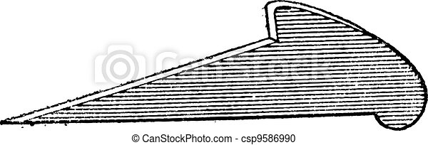 Flange, vintage engraving - csp9586990
