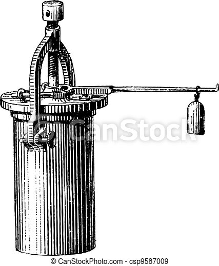 Pressure Cooker, vintage engraving - csp9587009