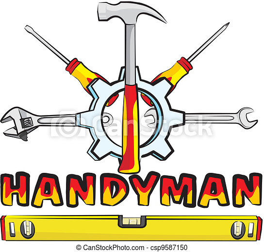 Vector Clipart of handyman - tools - do it yourself - hand tools for ...