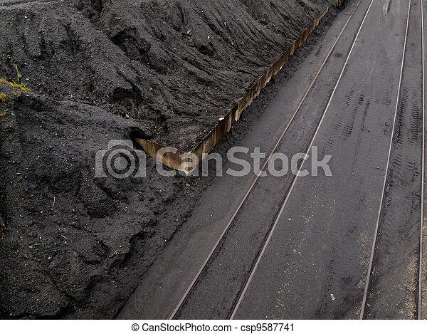 Coal mine train transfer storage site - csp9587741