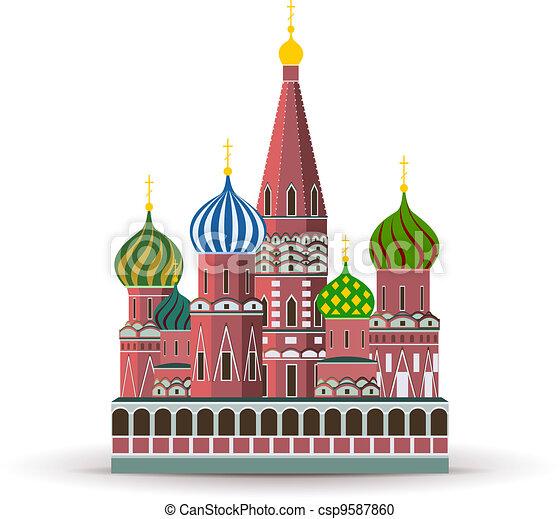 Kremlin, St. Basil Cathedral - csp9587860