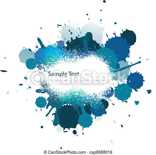 Blue tone color splash - csp9588016