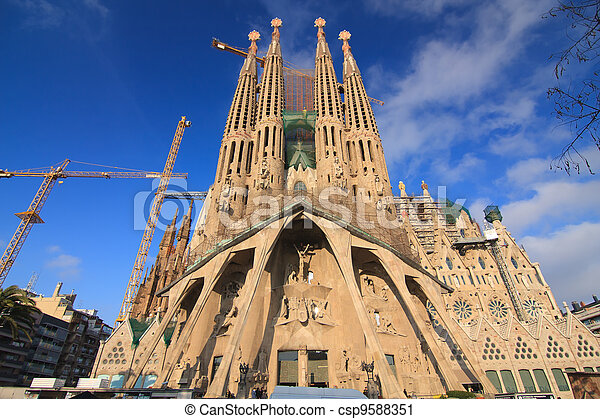 La Sagrada Familia, Barcelona, Spain. - csp9588351