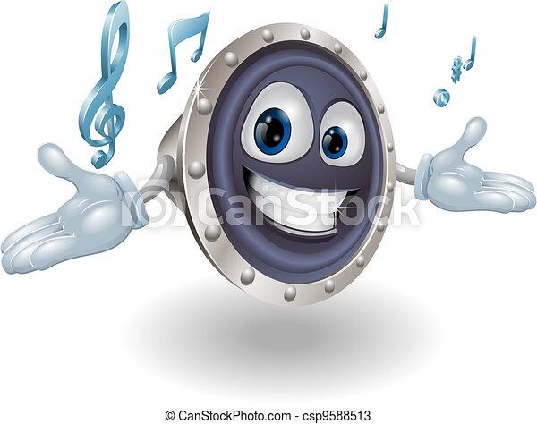 Speaker man character - csp9588513