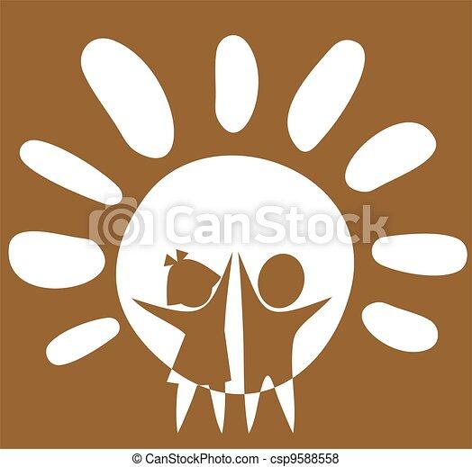childhood symbol - csp9588558