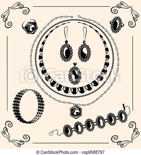 vintage jewel - csp9588797
