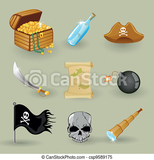 Vector pirate set - csp9589175