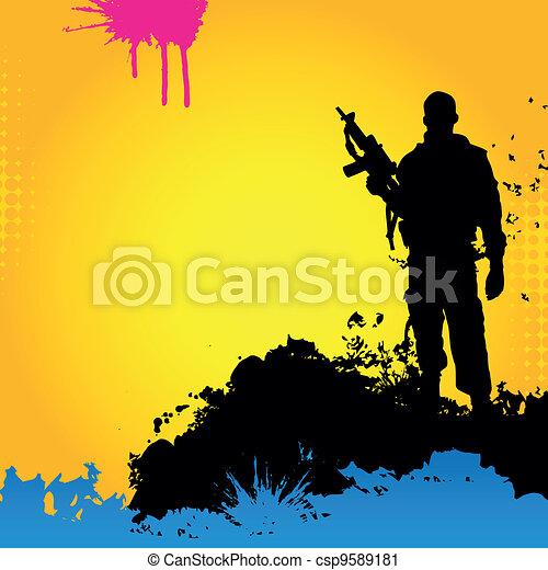 Vecto soldier - csp9589181