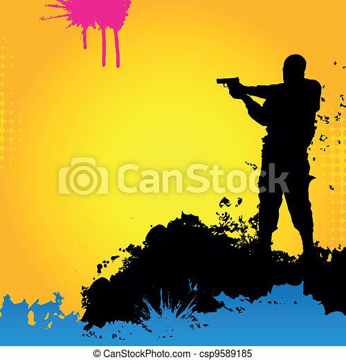 Vector soldier - csp9589185