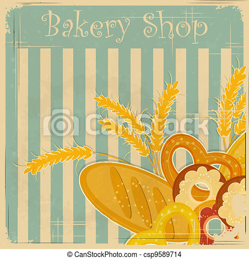 Vintage cover menu for Bakery - csp9589714