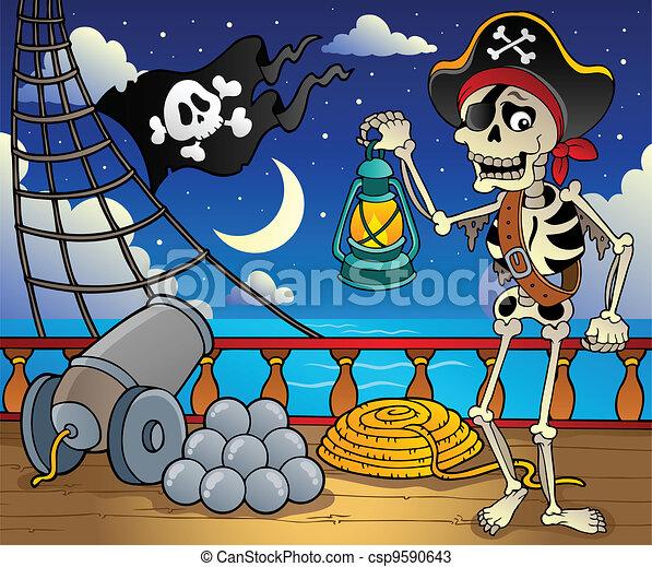 Pirate ship deck theme 6 - csp9590643