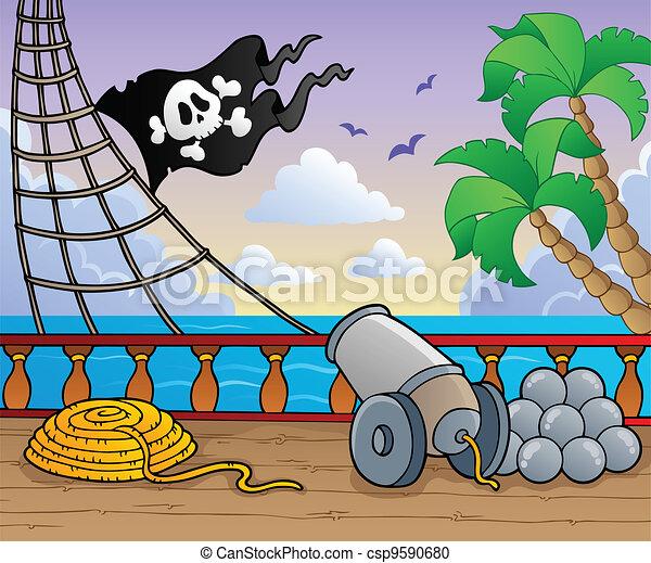 Pirate ship deck theme 1 - csp9590680