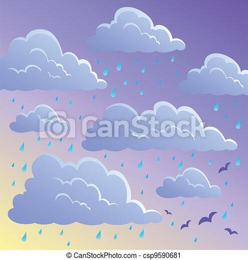 Cloudy sky background 4 - csp9590681
