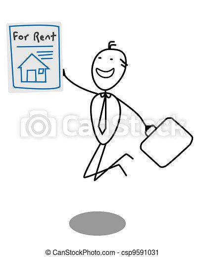 Businessman Rent House - csp9591031