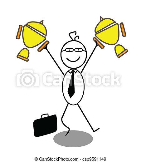 Businessman Achievement  - csp9591149