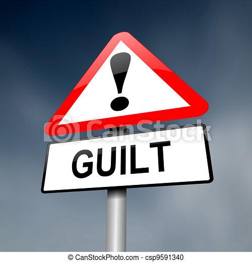 Guilt concept. - csp9591340