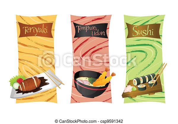 Asian food menu - csp9591342