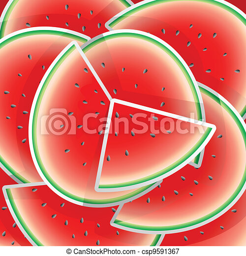 Watermelon illustration - csp9591367