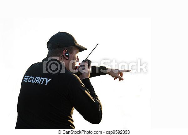 sicurezza, indietro, guardia - csp9592333