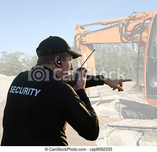back of a security guard - csp9592335