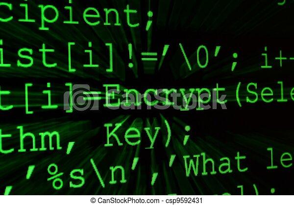 Program code on a monitor - csp9592431