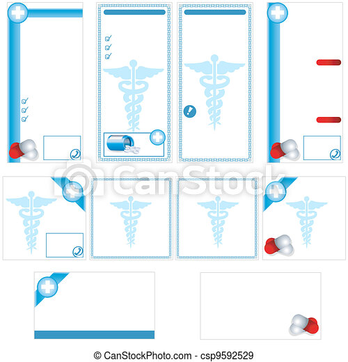 Medical stationary template - csp9592529