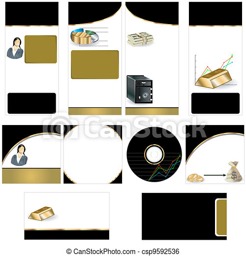 Gold stationary template - csp9592536